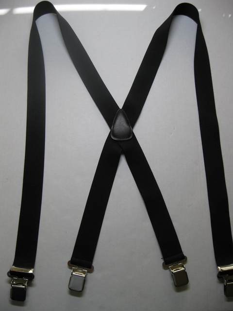 "1 1/2"" wide. ""X"" Style. Assorted SIZES:(42"" to 66"" long). 5' 1"" to 7' 5"" tall. Has Genuine Leather  BACK PATCH.All Straps are stretchable Cotton/Polyester Hand Washable-Hang to Dry Material with  4 Strong 1""x 1"" Stainless Steel Grips and 2 Stainless Steel Length Adjusters in the Front.     X-PB420N-D2B"