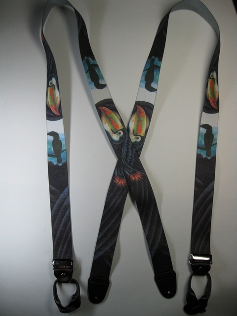"BUTTON-ON WILDLIFE TUCON Suspenders 1 1/2"" wide and 48"" long       UB120N48WLTC"